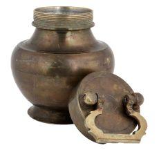 Brass Kamandal Pooja Pot With Lid