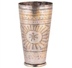 Brass Lassi Glass Big Sunflower And Decorative Rim