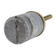 Grey Round Stone Dresser Knobs