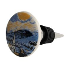 The Starry Night Multicolor Flat Wine Bottle Stopper