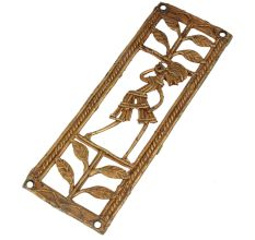 Poetic Female And Nature-inspired Brass Metal Decor