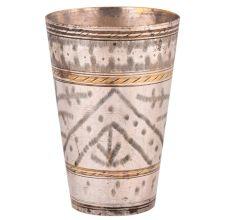 Traditional Leaf Design Brass Punjabi Glass