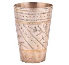 Brass Leaf Design Band Punjabi Lassi Glass