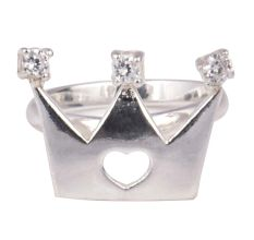 Crown Charm  Silver Toe Ring For Children
