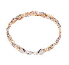 Stylish 92.7 Sterling Silver Gold Plated Bracelet