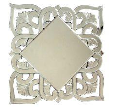 Handmade Silver Glass Square Venetian Mirror