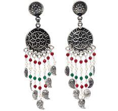 HandmadeOxidized Silver Stylish Fancy Party Wear Dangler Earrings For Women And Girls
