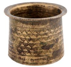Brass Vintage Used Panchpatra Small