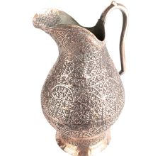 Vintage Copper Jug Carved Islamic Art Big Sized Decor Item