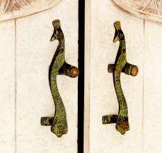 Elegant Brass Carved Peacock Handles